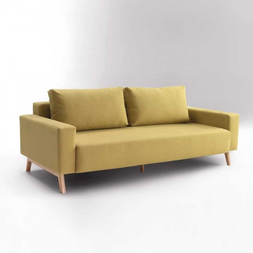 sofa tapizado color ocre