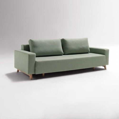 sofa cama, apertura frontal bisagra abatible