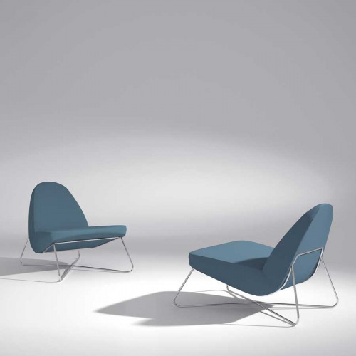 sillon moderno color turquesa